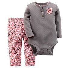 Carters Baby Girls Bodysuit & Pant Set NB 3 6 9 12 18 24Months Outfit Clothes