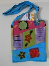 RISING INTERNATIONAL Nepal HIPPIE Handmade Cotton HOBO Crossbody Purse Hobo Bag
