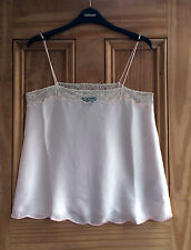 Topshop New Nude Peach Pink Cami Strappy Lace Vest Top Size 6 -16 Bnwot Rrp=£28