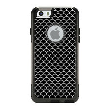 OtterBox Commuter for iPhone 5S SE 6 6S 7 Plus Black White Scalloped Pattern