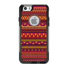 OtterBox Commuter for iPhone 5 5S SE 6 6S Plus Purple Red Yellow Tribal Print