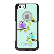 OtterBox Commuter for iPhone 5S SE 6 6S 7 Plus Blue Purple Yellow Owls