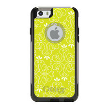 OtterBox Commuter for iPhone 5S SE 6 6S 7 Plus Yellow White Floral