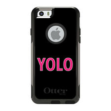 OtterBox Commuter for iPhone 5S SE 6 6S 7 Plus Black Pink YOLO
