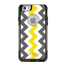 OtterBox Commuter for iPhone 5 5S SE 6 6S Plus Grey Yellow Chevron Stripes