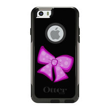 OtterBox Commuter for iPhone 5S SE 6 6S 7 Plus Pink Black Bow Ribbon