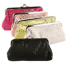 LADY TRENDY SEQUINS BUCKLE CLUTCH PARTY BAG PHONE PACKAGE HANDBAG WALLET PURSE