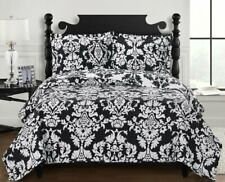 Luxury Oversized Reversible Printed Catherine Quilted 3PC Coverlet Set