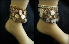 Anklet Egyptian Gypsy Coins Tribal Silver / Gold Belly Dance Dancing costume