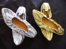 HANDMADE LEATHER SOLE BALLET BALLERINA BELLY DANCE PROFESSIONAL SHOES SLIPPERS