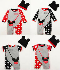 New 2 PCS baby newborn bodysuit + hat baby kids boys girls clothes summer suit