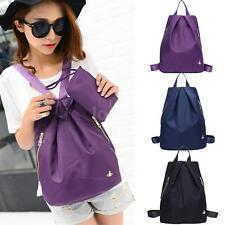Unisex Backpack Side Zippers Fashion Women Men Schoolbag Rucksack Clutch Purse