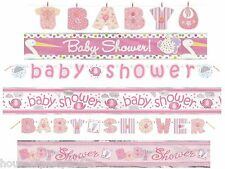 Baby Shower Christening Banners Girl Pink Foil & Jointed Decoration Banner