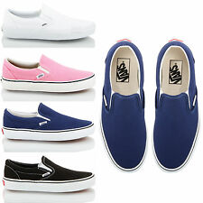 Womens mens unisex sports casual Vans classic slip on pumps shoes trainers size