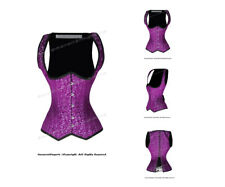 22 Full Double Steel Boned Waist Training Brocade Underbust Corset #H8528(BRO)