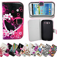 Magnetic Flip Stand Leather Wallet Cover Case For Samsung Galaxy Mobile Phones