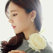Hot Selling  Women Lady Leaf Zircon Crystal Fashion Flower Stud Earrings 1Pair