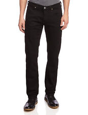 Lee Daren Slim Fit Tapered Jeans New Men's Clean Black Straight Leg Denim Pants