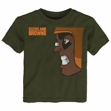 Cleveland Browns Toddler Rush Zone Side Face T-Shirt - Brown - NFL