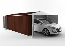 EasyShed Gable Roof Double & Single Door Garage Shed 6.00mWx3.75mDx2.18mH Colour