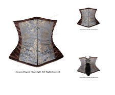 Full Steel Boned Heavy Lacing Brocade Underbust Shaper Corset #HC8570(BRO)