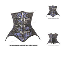 Double Steel Boned Waist Training Brocade Underbust Shaper Corset #HC8569(BRO)