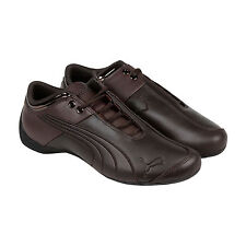 Puma Future Cat M1 Lux Leather Mens Brown Leather Lace Up Sneakers Shoes