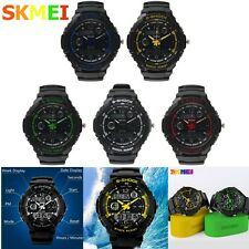 Waterproof 5ATM SKMEI Sport Quartz Wrist Watch Analog&Digital Date Week Show