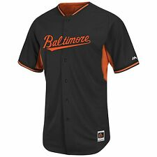Baltimore Orioles Authentic Cool Base Road  BP Jersey-By Majestic - Black