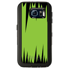 CUSTOM OtterBox Defender Case for Galaxy S5 S6 S7 Lime Green Black Spikes