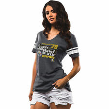 Women's Majestic Charcoal Pittsburgh Steelers On The Fifty Meant To Win T-Shirt