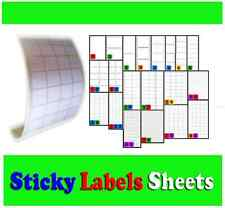 Blank White Self Adhesive Sticky Address Printer Labels Sheets 20 sizes