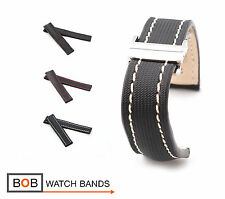 BOB Marino Nytech Deployment Strap/Band for Breitling, 20 & 22, black, new!