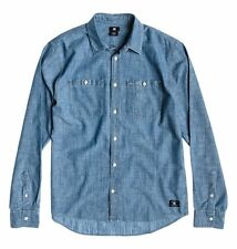 DC Shoes Clinton Hill Ls Shirt Mens - Blue (BTN0)