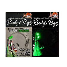 10 Snapper Rigs Flasher Fishing Hook Rig Tied 60lb Paternoster Bottom Whiting