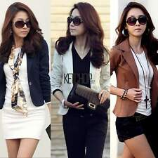 Women Fashion One Button Slim Casual Business Blazer Suit Jacket Coat Outwear e