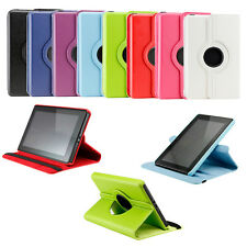 For Amazon Kindle Fire 360 Degree Rotating Leather Case Cover w Stand Accessory