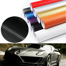 Carbon Fiber Vinyl Wrap Film 3D Car Sticker Sheet Decals Air Release 30x150CM