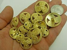 New lots of Italian Fancy Gold Metal Buttons sizes 5/8 3/4 7/8 &1 1/8 (#G2)