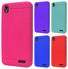 For ZTE WARP ELITE N9518 Rubber SILICONE Soft Gel Skin Case Cover + Screen Guard
