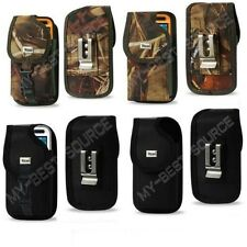 Rugged Canvas Pouch Holster Clip FOR Large Cell Phones To Fit Griffin Case On