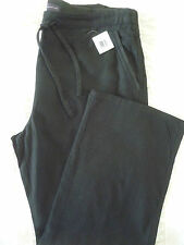 LADIES M&S SIZES 8 OR 16 PURE LINEN BLACK WIDE LEG TROUSERS NEW FREE POST
