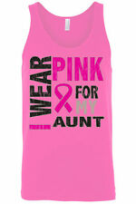 Men's Tank Top Breast Cancer Awareness I Wear Pink For My Aunt Ribbon Hope