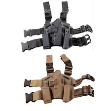 Tactical Right Leg Thigh Holster w/ Magazine Torch Pouch Glock 17 19 22 23 31 32