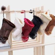 Hot Winter Warmer Women Faux Rabbit Fur Hand Wrist Fingerless Mitten Gloves E41