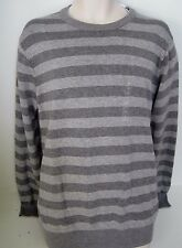 GAP Men's Gray Striped Crew-Neck Sweater Sizes XS,L,XL NWT
