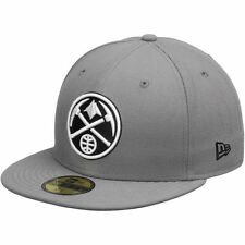 Mens Denver Nuggets New Era Gray/Black 59FIFTY Fitted Hat - NBA