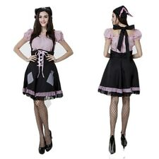 Sexy Women Ruffle Lolita Maid Outfit Halloween Fancy Dress Cosplay Party Costume