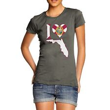 Twisted Envy Women's I Love Florida USA State T-Shirt