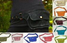 Suede Leather Waist Hip Pack Bag Belt Burning Pouch Party Playa Rave woman man